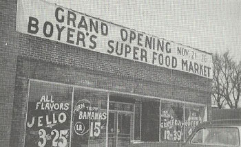 Boyer's Super Food Market grand opening in November 1947.